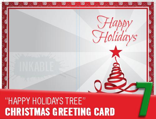 A Week Of Gift Giving 7 Free Printable Christmas Greeting Card Inkable Australia