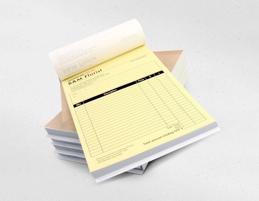 DL Duplicate NCR Invoice Book Printing Inkable - Carbon invoice book printing